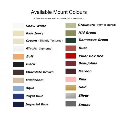 Lots of Colours 50x50cm Picture// Photo Bevel Edge Mount with 30x30cm Aperture